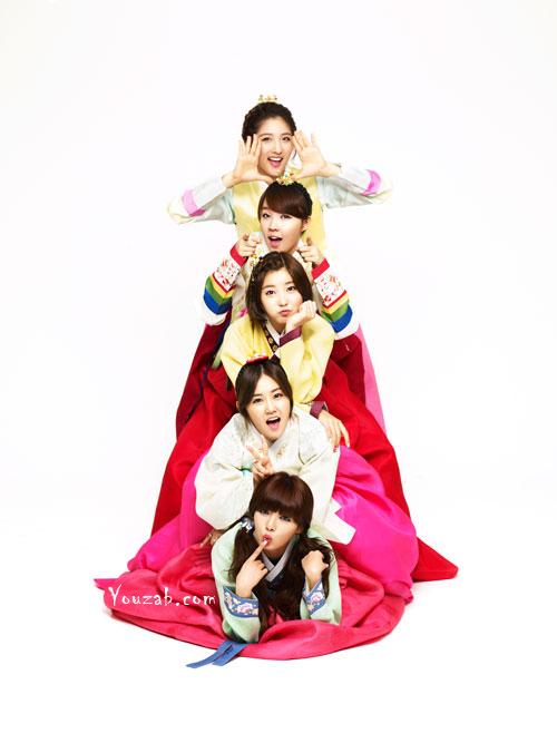 4Minute ชุดฮันบก