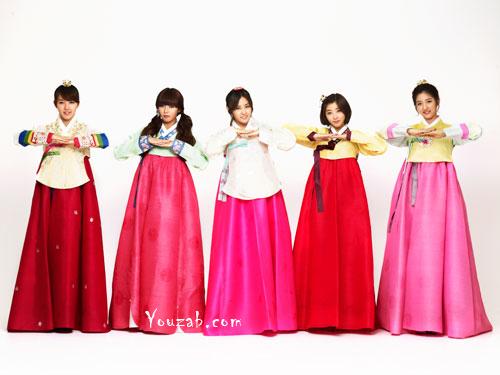 4Minute ชุดฮันบก 2012