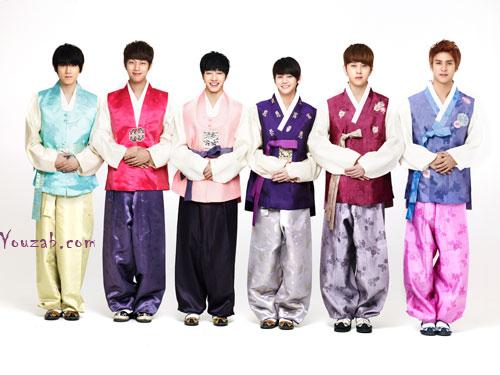 B2ST ชุดฮันบก