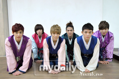 Teen Top Hanbok 2012