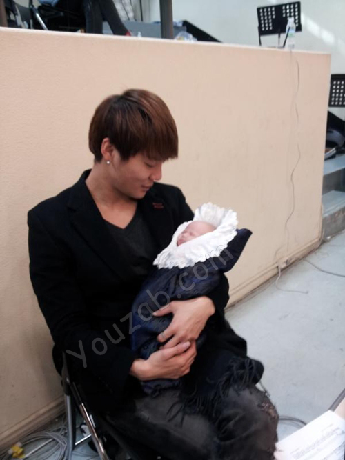 Junsu JYJ and baby