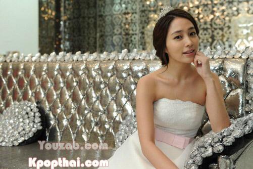 Lee Min Jung in Wedding Dress