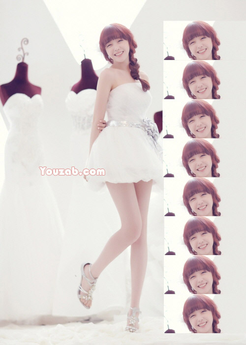Minah-Girls Day in Wedding dress