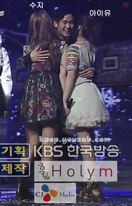 คิมซูฮยอนสวมกอดทั้งซูซี่และไอยู