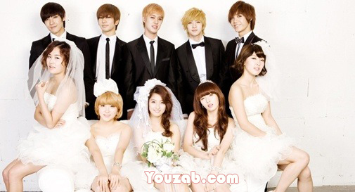 4minute mblaq in wedding dress
