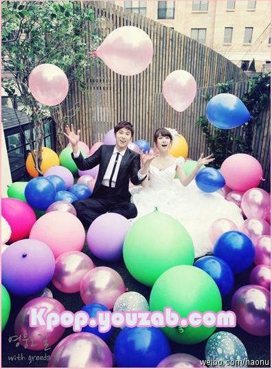 Jiyeon-Yunho in Wedding Dress