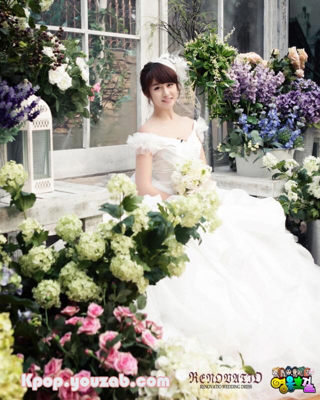 Jiyeon in Wedding Dress