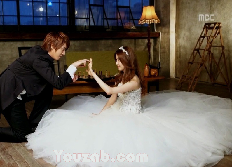 YongHwa-SeoHyun in Wedding Dress