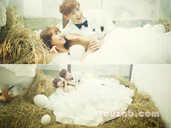 Nichkhun -Victoria in Wedding Dress