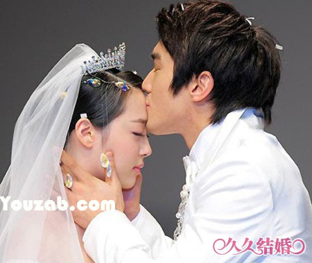 Siwon-Sulli in Wedding Dress
