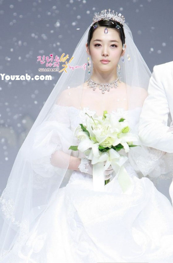 Sulli in Wedding Dress