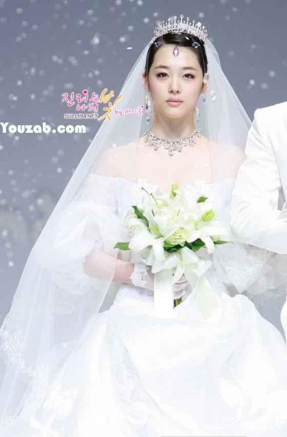 Sulli in Wedding Dress