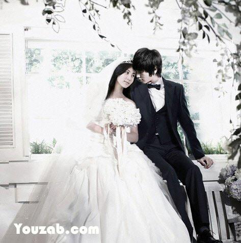 YongHwa-SeoHyun in Wedding Dreess