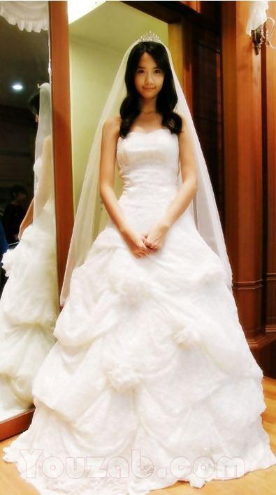 YoonA SNSD in Wedding Dress