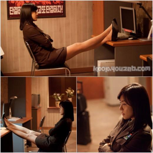 ฮาจีวอนโชว์เรียวขาของเธอในละครเรื่อง The King 2Hearts