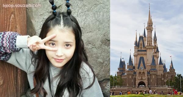 IU in Tokyo Disneyland