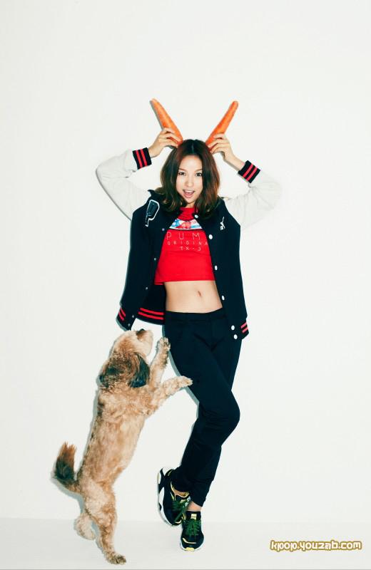ลีอโยริกับสุนัขตัวโปรดของเธอถูกเลือกเป็นพรีเซนเตอร์ให้กับ PUMA