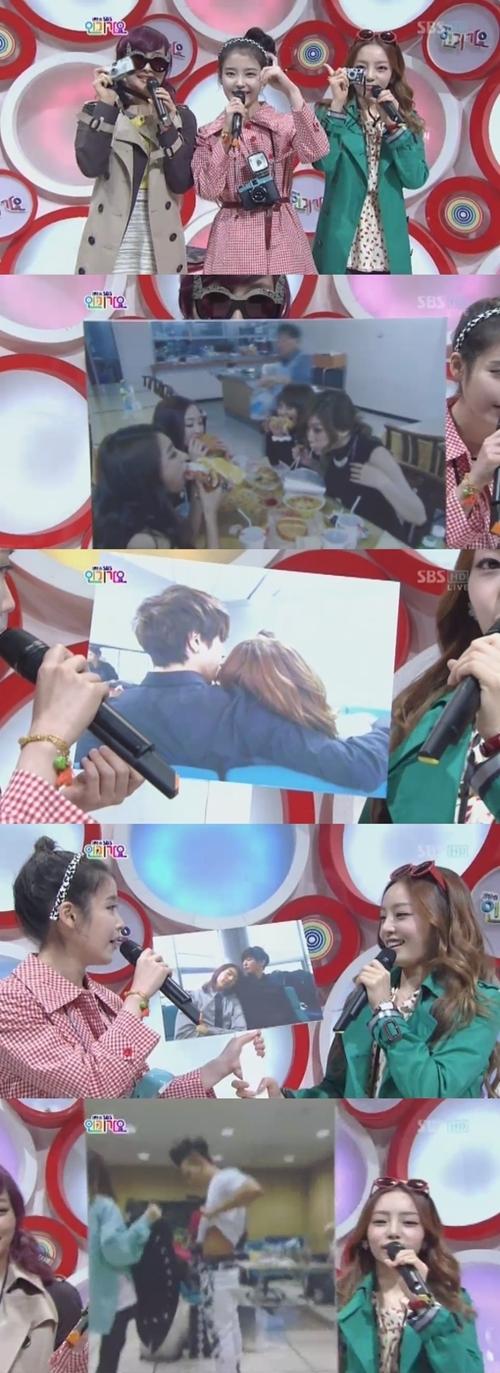 เผยภาพแอบถ่ายสุดฮาของ3ปาปารัสซี่สาวไอยู นิโคล กูฮาร่า ในรายการ Inkigayo