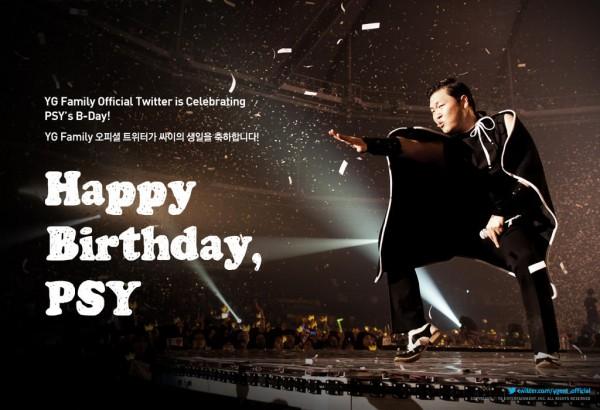 YG Entertainment ต้นสังกัดอวยพรวันเกิดให้กับไซ (Psy)