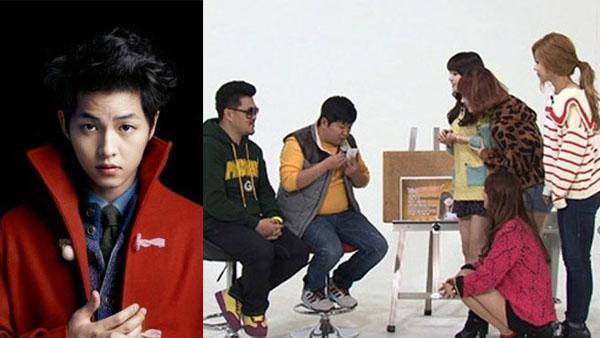 จองฮยองดอนโทรหาซงจุงกิให้สาวๆ Girl's Day ในรายการ Weekly Idol