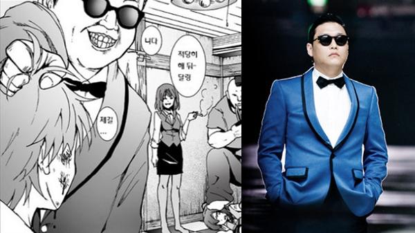 ชาวเน็ตไม่พอใจที่การ์ตูนญี่ปุ่นสำหรับผู้ใหญ่นำ Psy มาเป็นตัวละครไม่ดีในเรื่อง