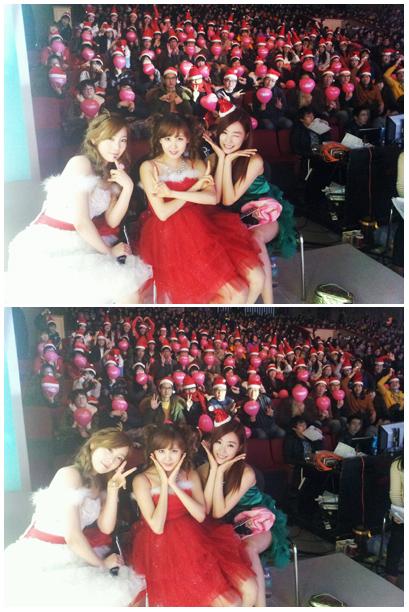 สามสาวแททิซอ (TaeTiSeo) ถ่ายภาพกับแฟนๆหลังเวที และทิฟฟานี่อวยพรวันคริสต์มาส