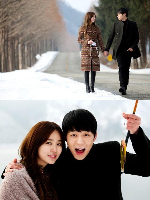 เผยภาพของยูชอนและยุนอึนเฮขณะเดทกันท่ามกลามหิมะจากละคร 'I Miss You'