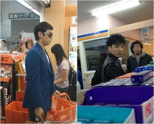 TOP และซึงรีถูกพบขณะเดินช็อปปิ้งในร้านสะดวกซื้อที่ญี่ปุ่น