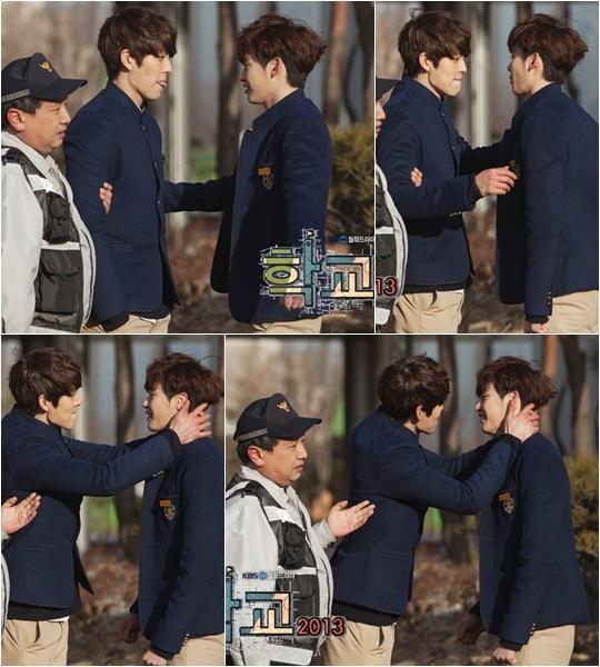 20130125_school2013_leejongsuk_kimwoobin_kissscene