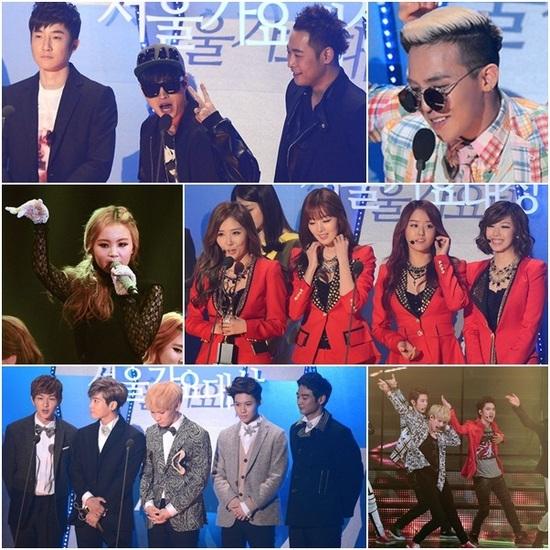 รายชื่อผู้ได้รับรางวัลในงาน '22nd Seoul Music Awards'