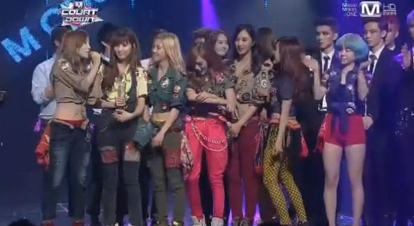 [Live]ผู้ชนะในรายการ M!Countdown 17/1/2013 ได้แก่..SNSD!!