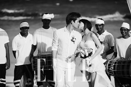 เผยภาพถ่ายของซอนเย Wonder Girls ขณะจูบกับสามีของเธอจากนิตยสาร 'Elle'