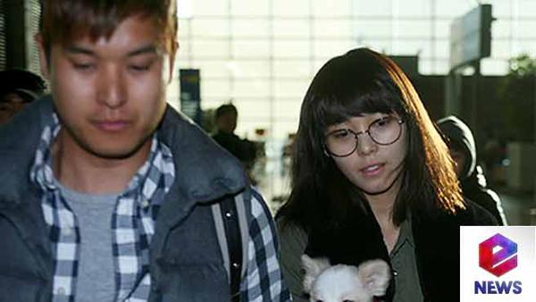 ซอนเย Wonder Girls ออกเดินทางไปแคนาดาพร้อมกับสามีของเธอเมื่อเช้านี้