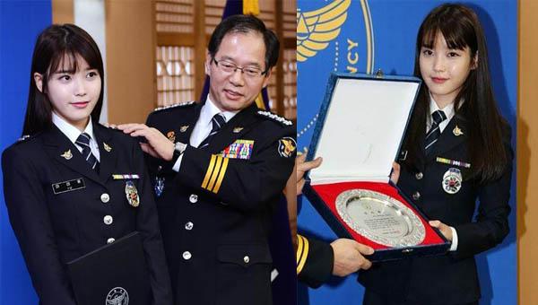 ไอยู (IU) ได้รับการแต่งตั้งเป็นเจ้าหน้าที่ตำรวจหญิงกิตติมศักดิ์
