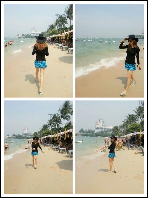 จองอา After School โชว์รูปร่างสุดเพอร์เฟ็คขณะเดินเล่นที่ชายหาดในประเทศไทย