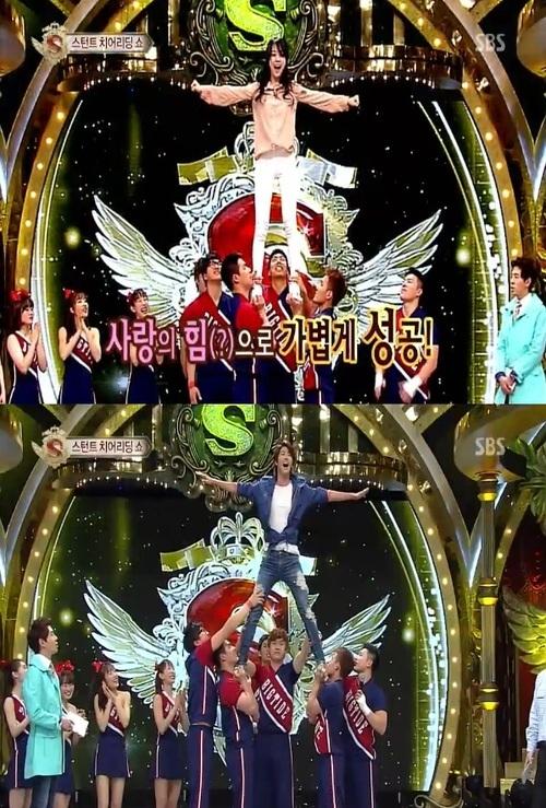 เมื่อกวางฮี ZE:A และมินอา Girls Day ขอลองเป็นเชียร์ลีดเดอร์ในรายการ 'Star King'