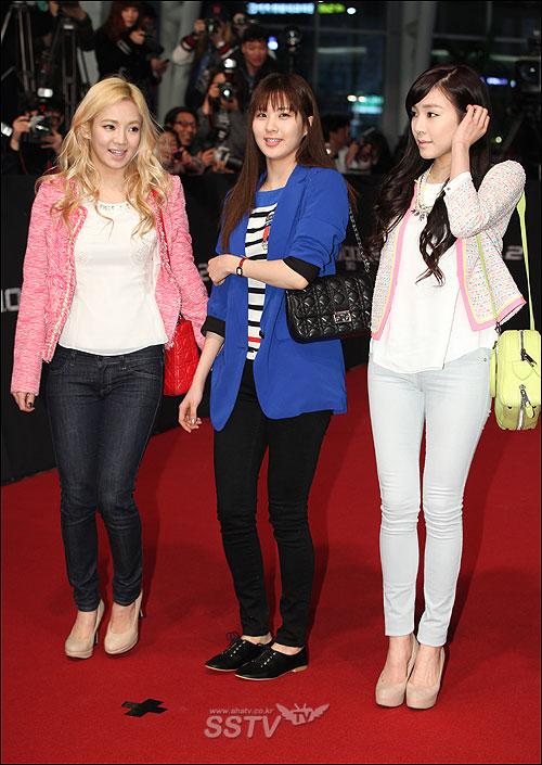 สมาชิก Girls Generation เข้าร่วมงานเปิดตัวภาพยนตร์ 'G.I. Joe 2′ รอบปฐมทัศน์