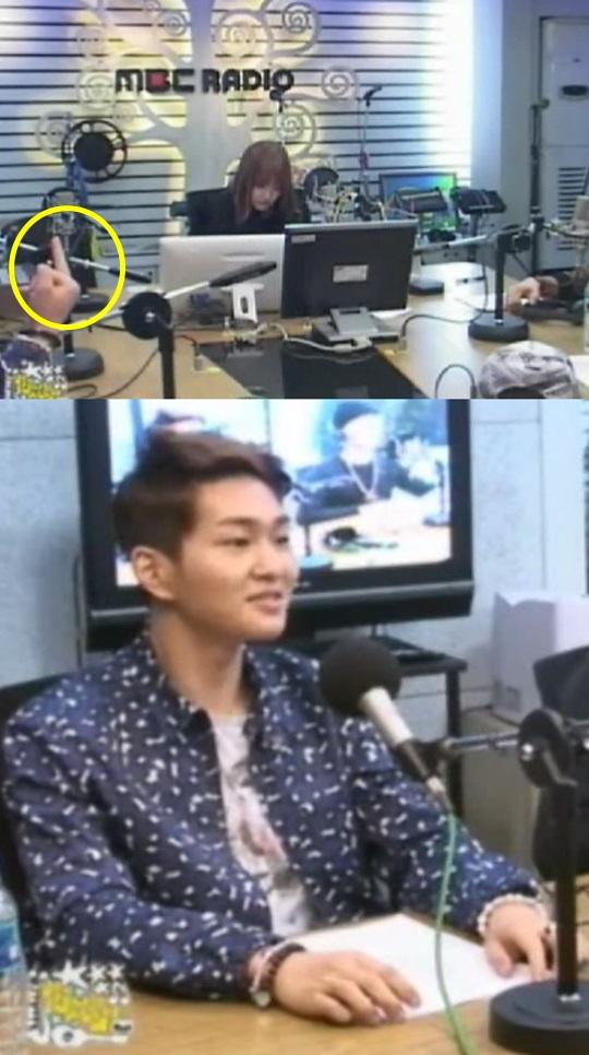 ชาวเน็ตสังเกตเห็นอนยู SHINee ชูนิ้วกลางในระหว่างออกอากาศรายการวิทยุ