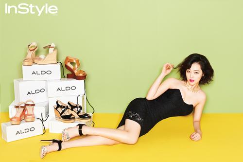 ซอลลี่ f(x) โชว์ความเซ็กซี่ของเธอผ่านนิตยสาร 'InStyle' ฉบับเดือนเมษายน