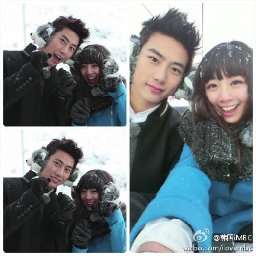 คู่แทคยอนและอู๋อิ้งเจี๋ย (Gui Gui) เข้ากันได้เป็นอย่างดีใน 'We Got Married' World version
