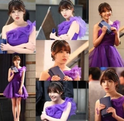 ไอยูโชว์ความสวยในชุดสีม่วงผ่านภาพล่าสุดจากละคร 'You're the Best Lee Soon Shin'
