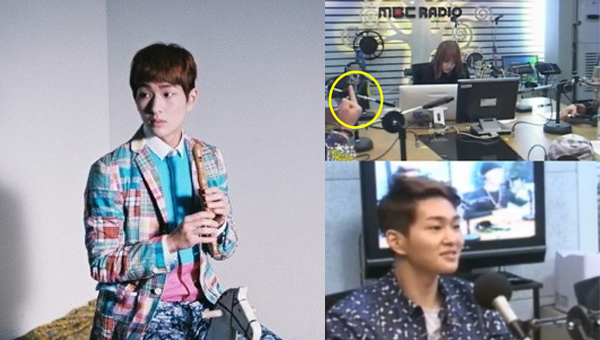 Onew-SHINee-Middle Finger
