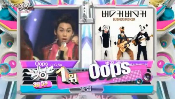 [Live]130329 ผู้ชนะในรายการ Music Bank ได้แก่... G.NA!! + การแสดงวันนี้