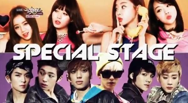 "Girl's Day, Teen Top, จินอุน และปาร์คเซยองโชว์เพลง ""Gentleman"" ของ Psy ในรายการ Music Bank"