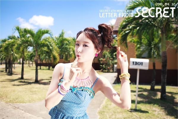 """SECRET เผยภาพทีเซอร์ของจีอึนสำหรับการคัมแบ็คเพลง """"YooHoo"""""""