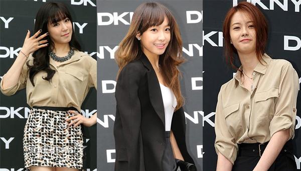 สามสาวสวยค่าย SM ทิฟฟานี่, วิคตอเรียและโกอาราเข้าร่วมงาน DKNY's S/S 2013 Collection