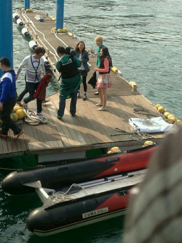 แทมินและนาอึนถูกพบขณะถ่ายทำรายการ  'We Got Married' ในเกาะเชจู