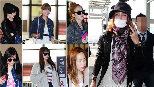 Girls Generation และจางกึนซอกถูกพบที่สนามบินเมื่อวันที่ 3 เมษายน