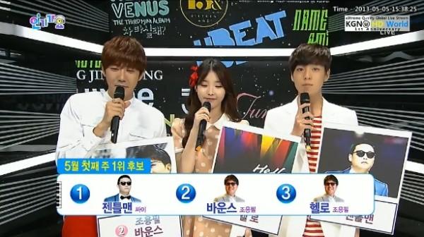 [Live]130505 ผู้ชนะในรายการ Inkigayo ได้แก่...Psy !! + การแสดงวันนี้