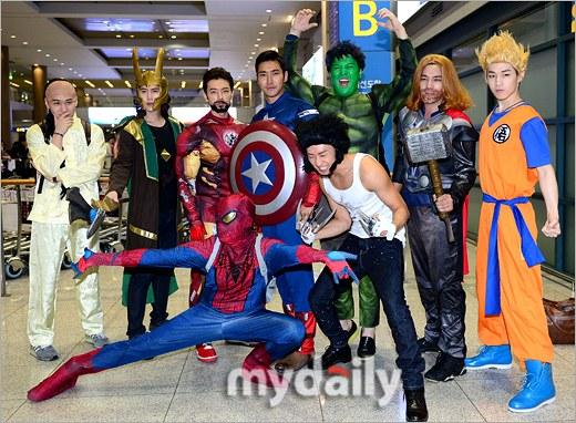 ตะลึง!!Super Junior เดินทางกลับเกาหลีด้วยชุดซุปเปอร์ฮีโร่!!